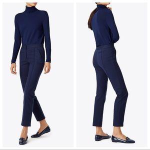 Tory Burch navy blue Vanner trouser pant